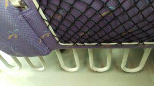 座席下のキャリーバック置き場