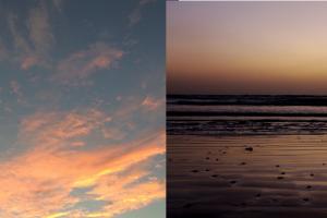日没と干潮