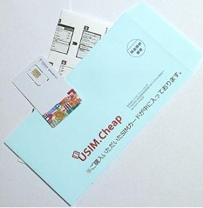 封筒に入って、SIMと設定方法が書かれた紙が届きます